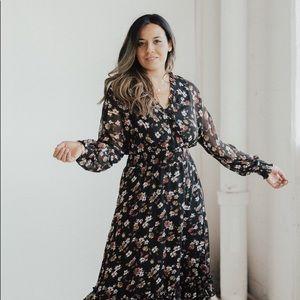 CJLA Aubrey Chiffon Midi Dress
